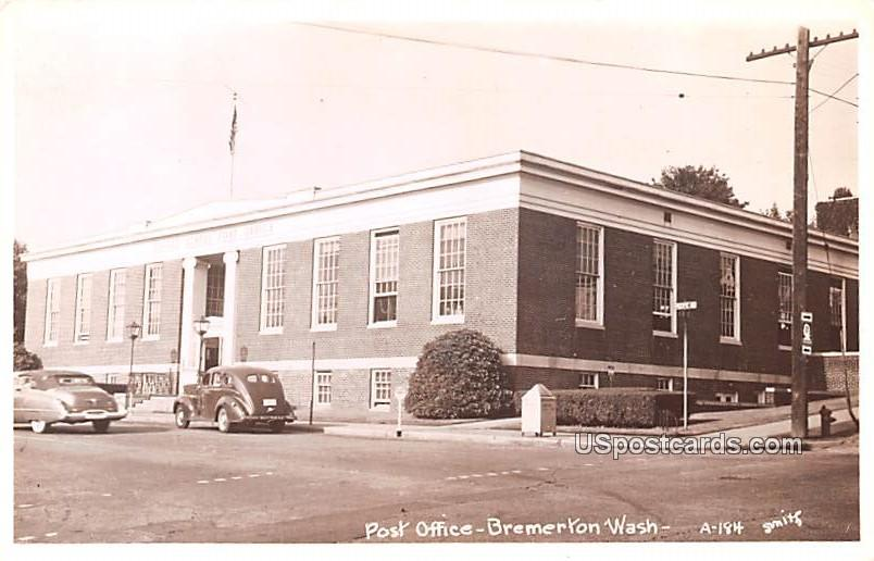 Post Office - Bremerton, Washington WA Postcard