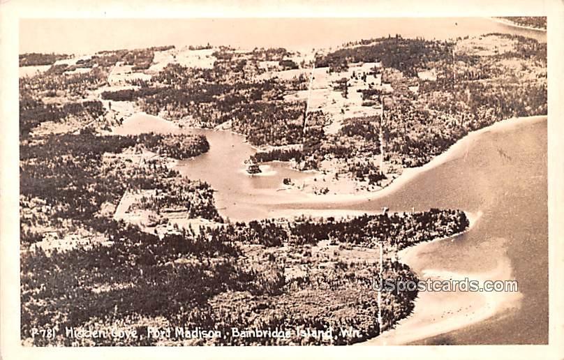 Hidden Cove - Bainbridge Island, Washington WA Postcard