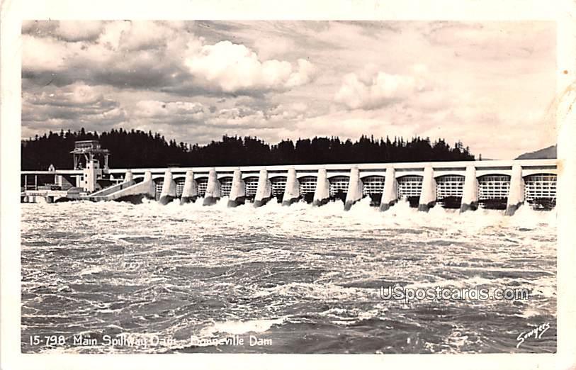 Main Spillway Dam - Bonneville Dam, Washington WA Postcard