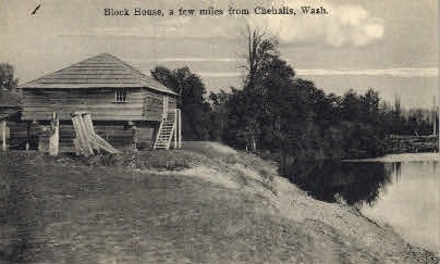Block House - Chehalis, Washington WA Postcard