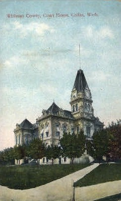 Whitman County Court House - Colfax, Washington WA Postcard