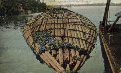 Log Raft - Misc, Washington WA Postcard
