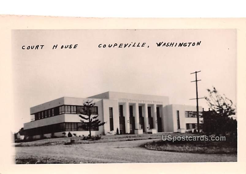 Court House - Coupeville, Washington WA Postcard