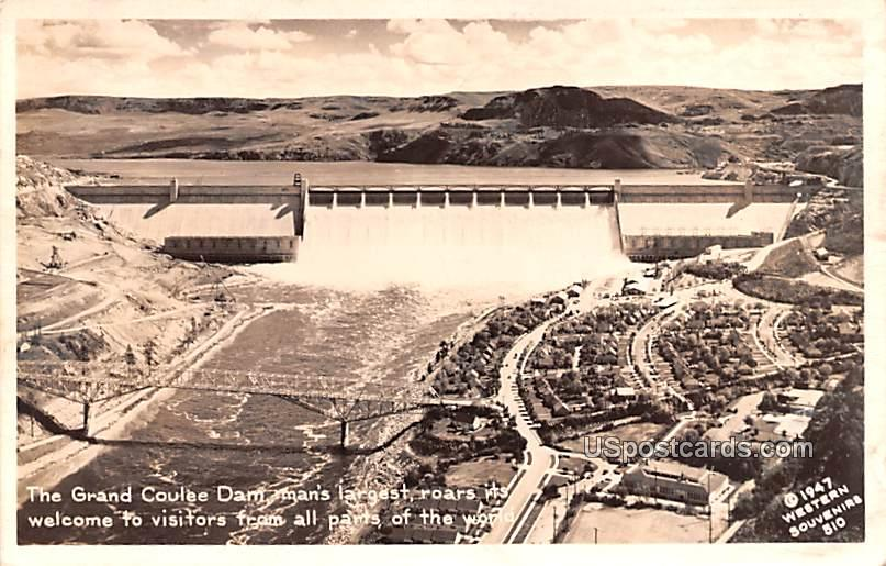 Grand Coulee Dam - Washington WA Postcard
