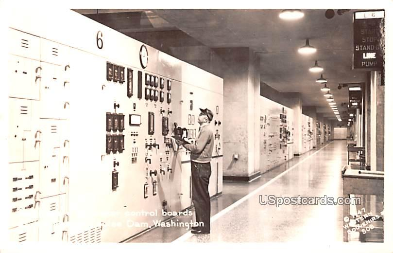Generator Control Boards - Coulee Dam, Washington WA Postcard