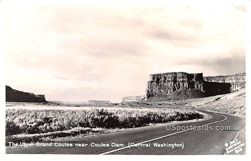 Upper Grand Coulee - Coulee Dam, Washington WA Postcard