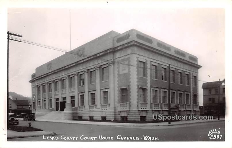 Lewis County Court House - Chehalis, Washington WA Postcard