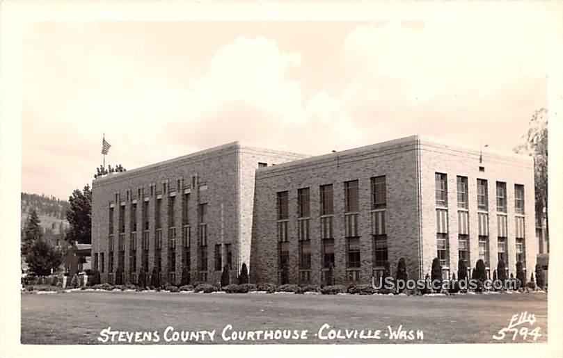 Stevens County Courthouse - Colville, Washington WA Postcard