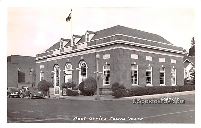 Post Office - Colfax, Washington WA Postcard