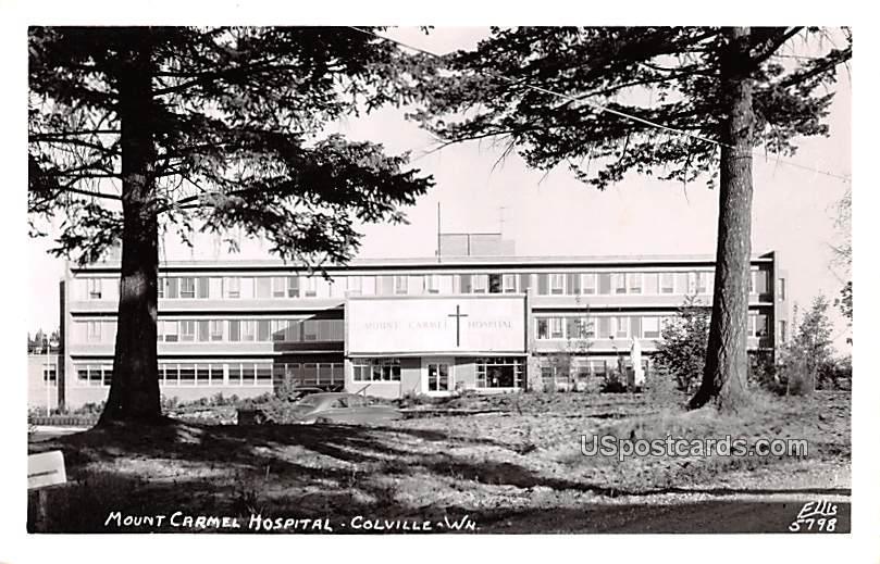 Mount Carmel Hospital - Colville, Washington WA Postcard