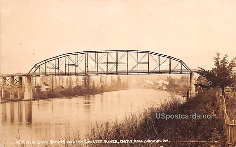 New Steel Bridge - Castle Rock, Washington WA Postcard
