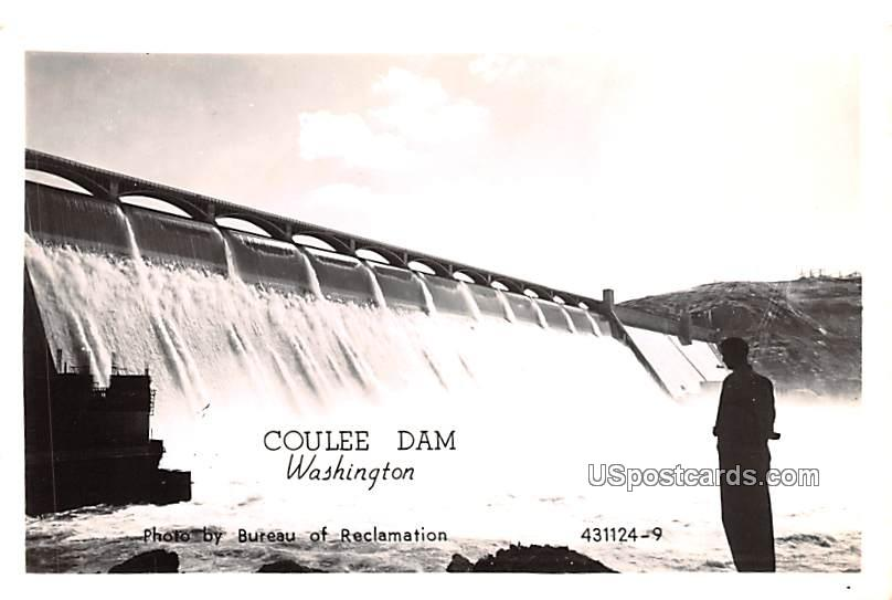 Photo by Bureau of Reclamation - Coulee Dam, Washington WA Postcard