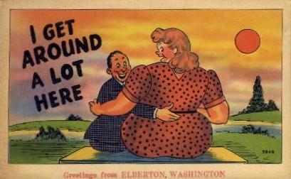 Greetings From - Elberton, Washington WA Postcard