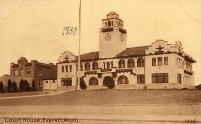 Court House - Everett, Washington WA Postcard
