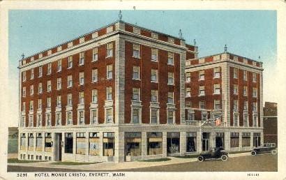 Hotel Monte Cristo - Everett, Washington WA Postcard