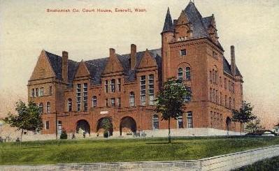 Snohomish Co. Court House - Everett, Washington WA Postcard