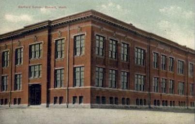 Garfield School - Everett, Washington WA Postcard