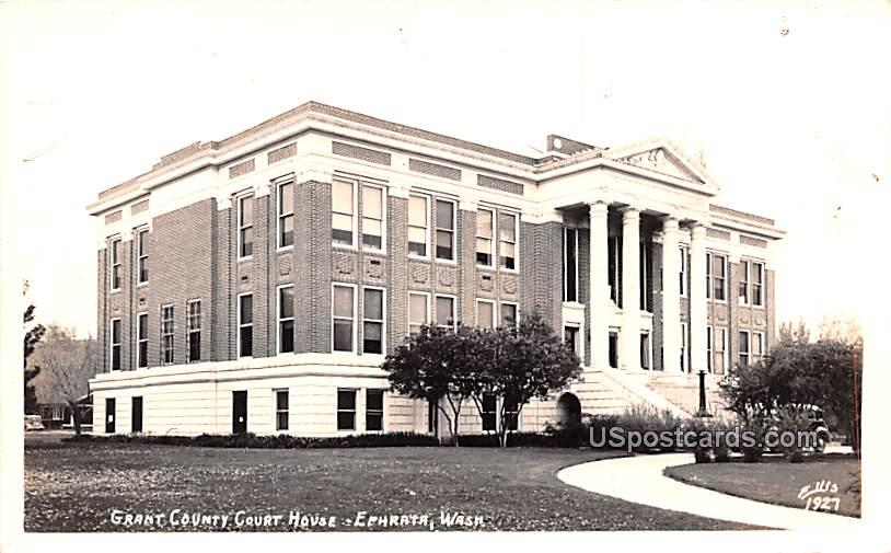Grant County Court House - Ephrata, Washington WA Postcard