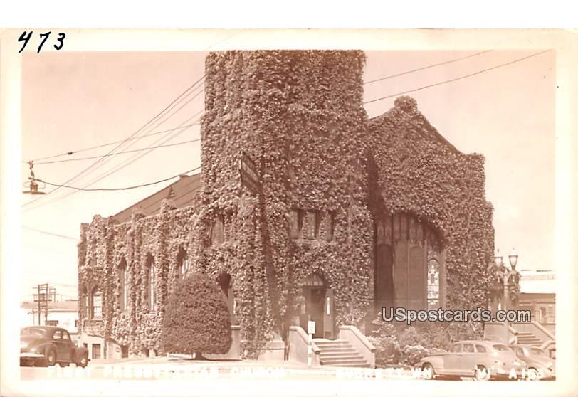 First Presbyterian Church - Everett, Washington WA Postcard