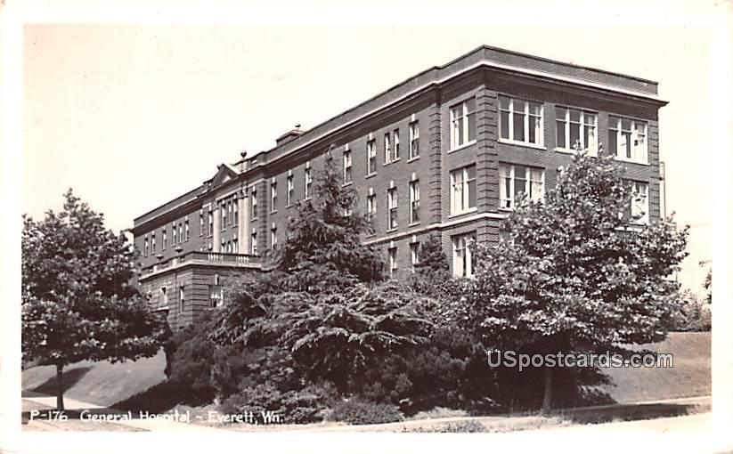 General Hospital - Everett, Washington WA Postcard