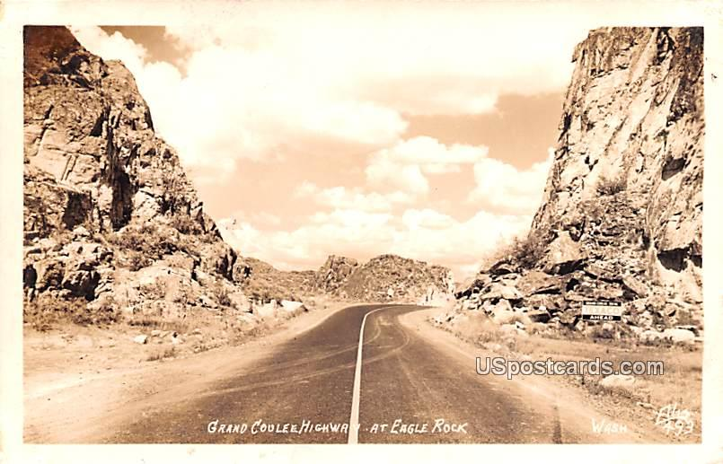 Grand Coulee Highway - Eagle Rock, Washington WA Postcard