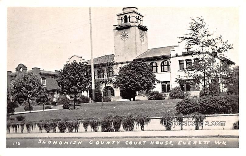 Shohomish County Court House - Everett, Washington WA Postcard