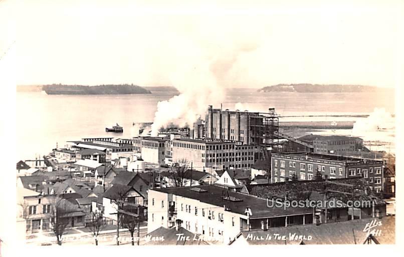 Pulp Mill - Everett, Washington WA Postcard