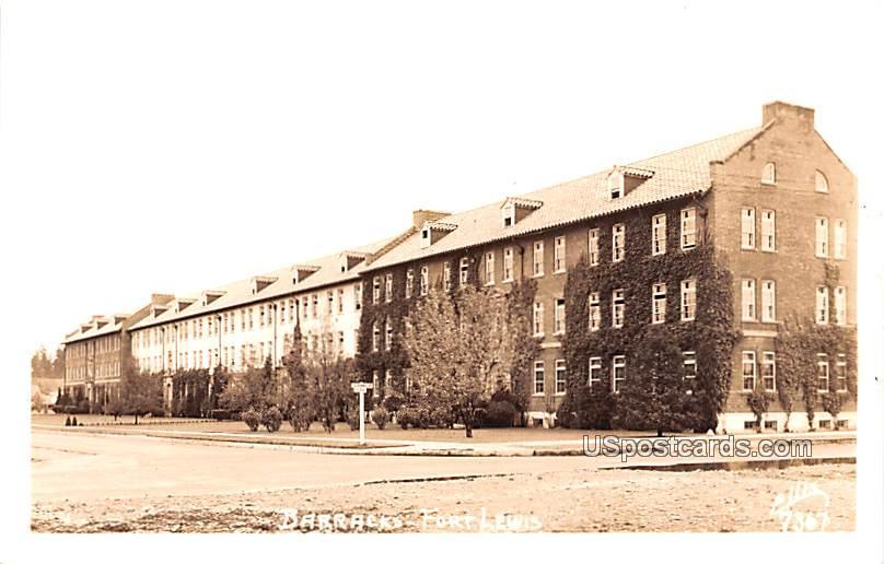 Barracks - Fort Lewis, Washington WA Postcard
