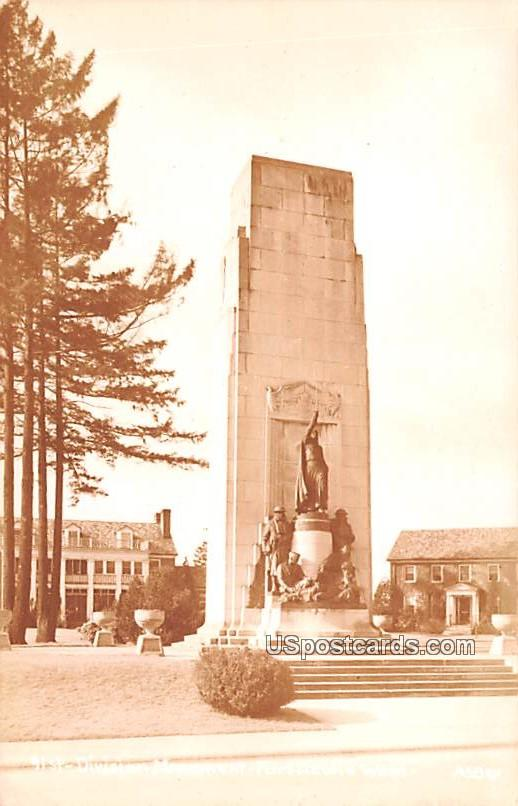Division Monument - Fort Lewis, Washington WA Postcard