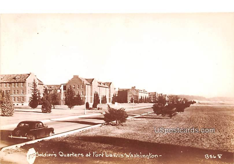 Soldiers Quarters - Fort Lewis, Washington WA Postcard