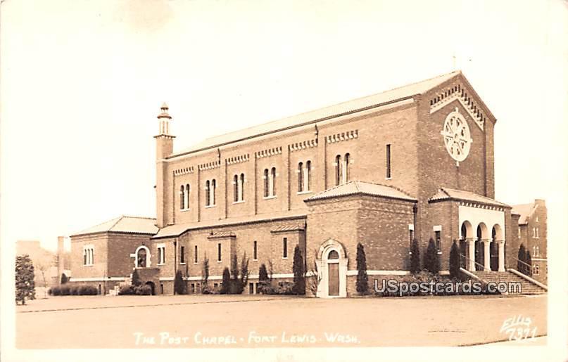 Post Chapel - Fort Lewis, Washington WA Postcard