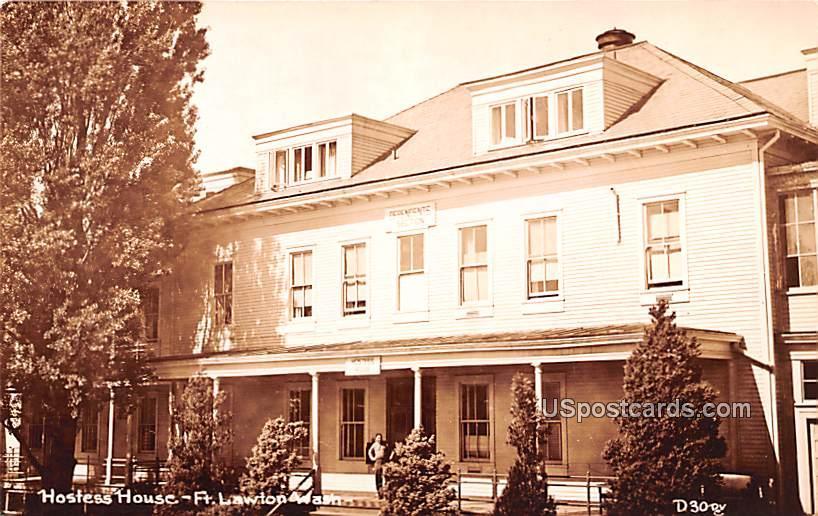 Hostess House - Fort Lawton, Washington WA Postcard
