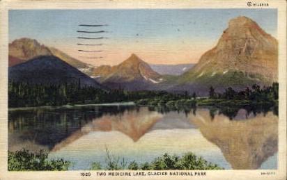 Two Medicine Lake - Glacier National Park, Washington WA Postcard