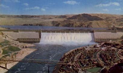 Grand Coulee Dam - Washington WA Postcard