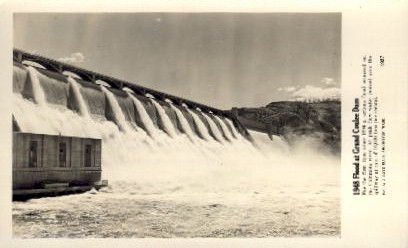 Flood at Grand Coulee Dam - Washington WA Postcard