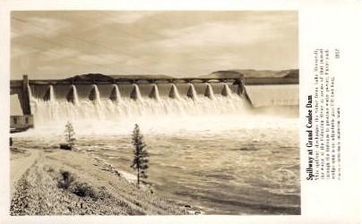 Spillway at Grand Coulee Dam - Washington WA Postcard