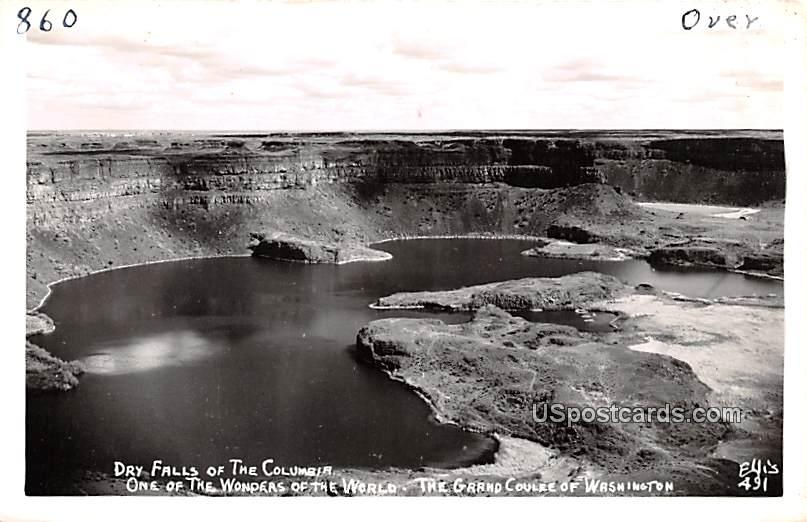 Dry Falls of the Columbia - Grand Coulee, Washington WA Postcard