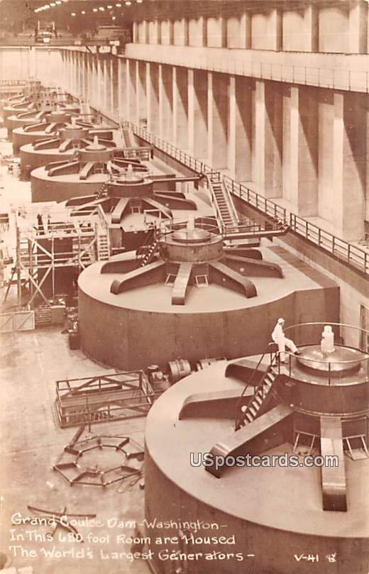 World's Largest Generators - Grand Coulee Dam, Washington WA Postcard