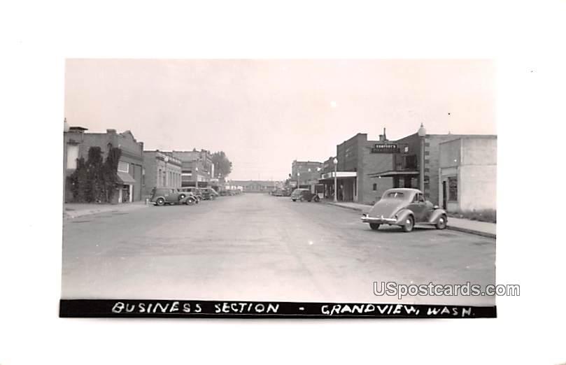 Business Section - Grandview, Washington WA Postcard