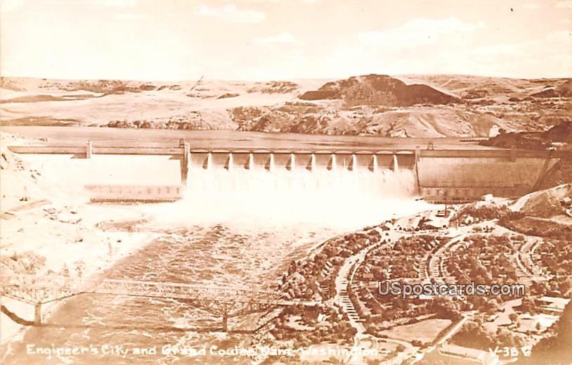 Engineer's City - Grand Coulee Dam, Washington WA Postcard