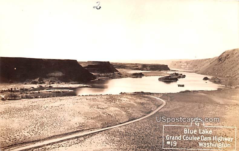 Blue Lake - Grand Coulee Dam Highway, Washington WA Postcard