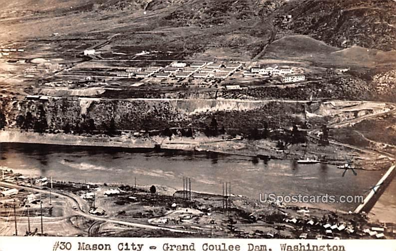 Mason City - Grand Coulee Dam, Washington WA Postcard
