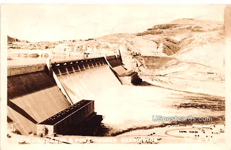 Power Houses - Grand Coulee Dam, Washington WA Postcard