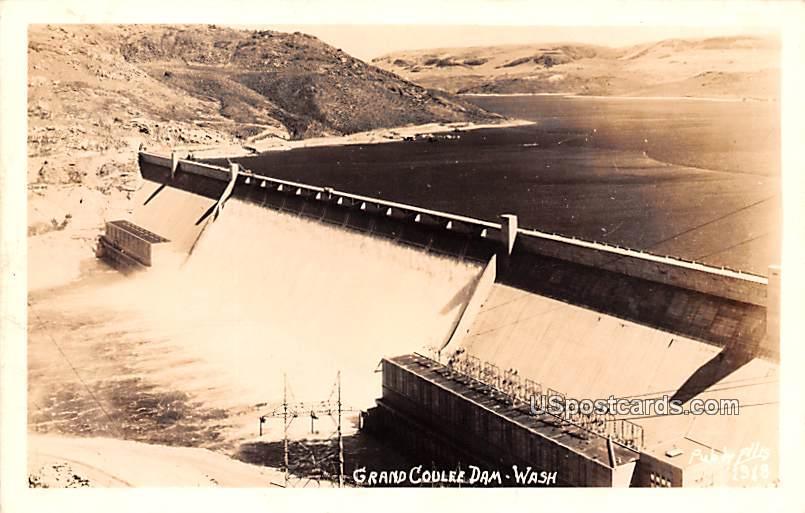 Dam View - Grand Coulee Dam, Washington WA Postcard