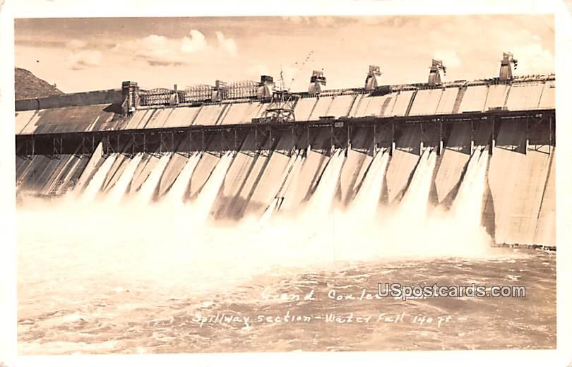 Spillway Section - Grand Coulee Dam, Washington WA Postcard