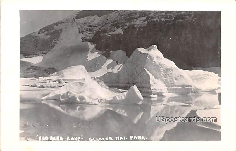 Ice Berg Lake - Glacier National Park, Washington WA Postcard