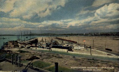 Washington Shipping Corporation - Harbor Island Postcard