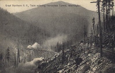 Horseshoe Tunnel - Washington WA Postcard