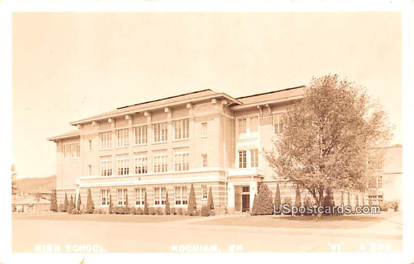High School - Hoquiam, Washington WA Postcard