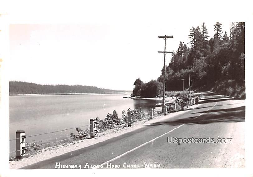 Highway - Hood Canal, Washington WA Postcard